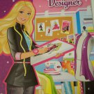 "Barbie Educational Paperback ~ I Can Be a Fashion Designer (8"" x 11). Coloring Book"