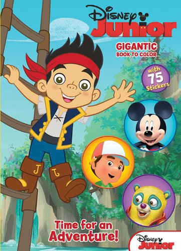 Disney Junior Jake & the Never Land Pirates: Gigantic Book to Color with Stickers