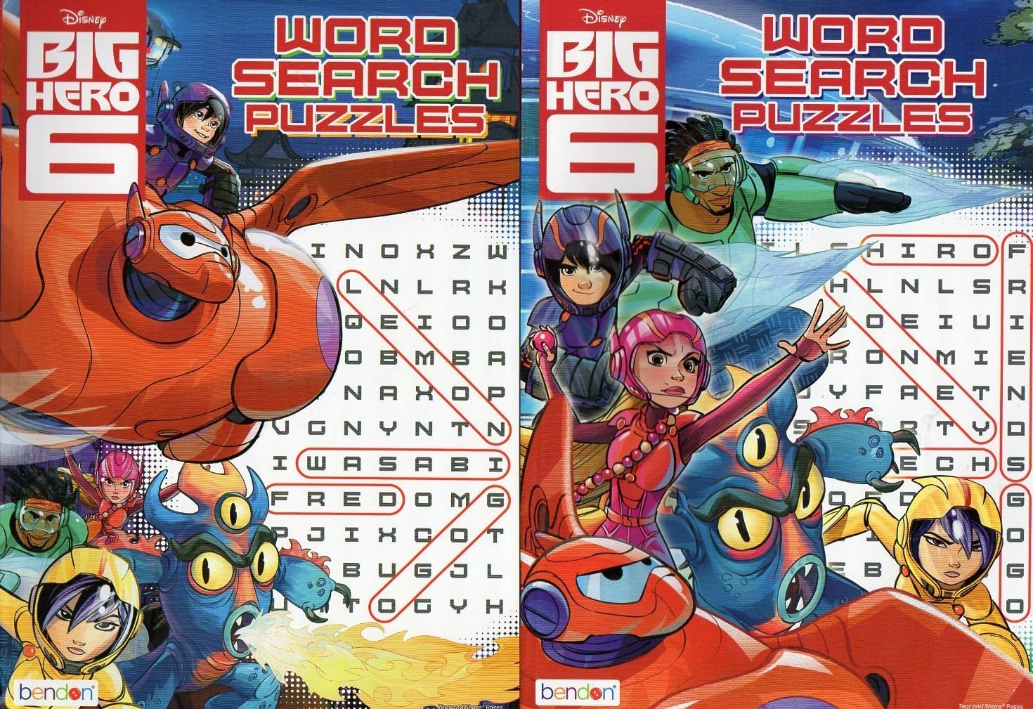 Set of 2 Books - Disney Big Hero 6 Word Search Puzzles Books
