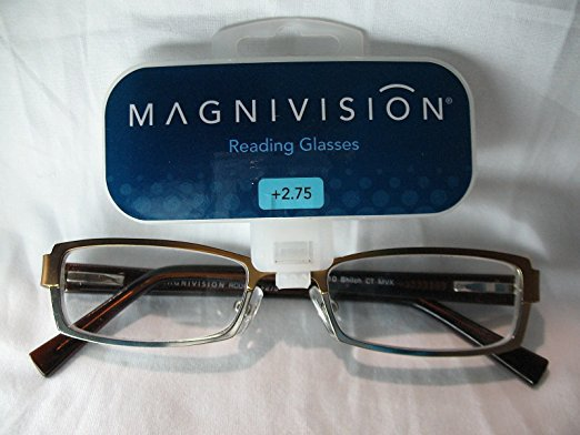 +2.75 Two Tone Gold Magnivision Reading Glasses