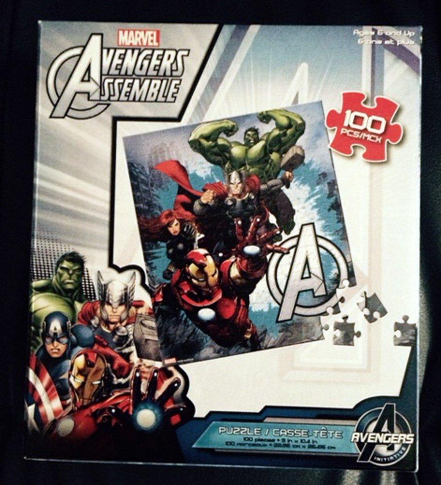 Avengers Assemble, Iron Man, Hulk, Thor, Black Widow, 100 Piece Puzzle
