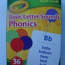 """Crayola"",36 Learning,Flash Cards,BASIC LETTER SOUNDS PHONICS, Educational"