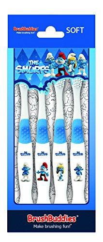 Brush Buddies Manual Toothbrush - Smurfs - 4 Pk