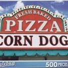 Puzzlebug 500 Piece Jigsaw Puzzle ~ Pizza and Corndog Sign