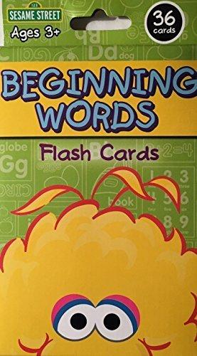 Sesame Street Beginning Words Flash Cards