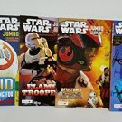4 Star Wars Jumbo Coloring and Activity Books from the New Film The Force Awakens
