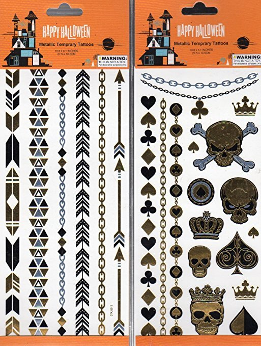 Happy Halloween Temporary Temporary Tattoos - (Bundle 2 Items) V4
