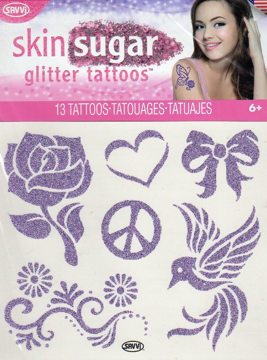 Skin Sugar - Glitter Temporary Tattoos - 13 Tattoos By Savvi - V1