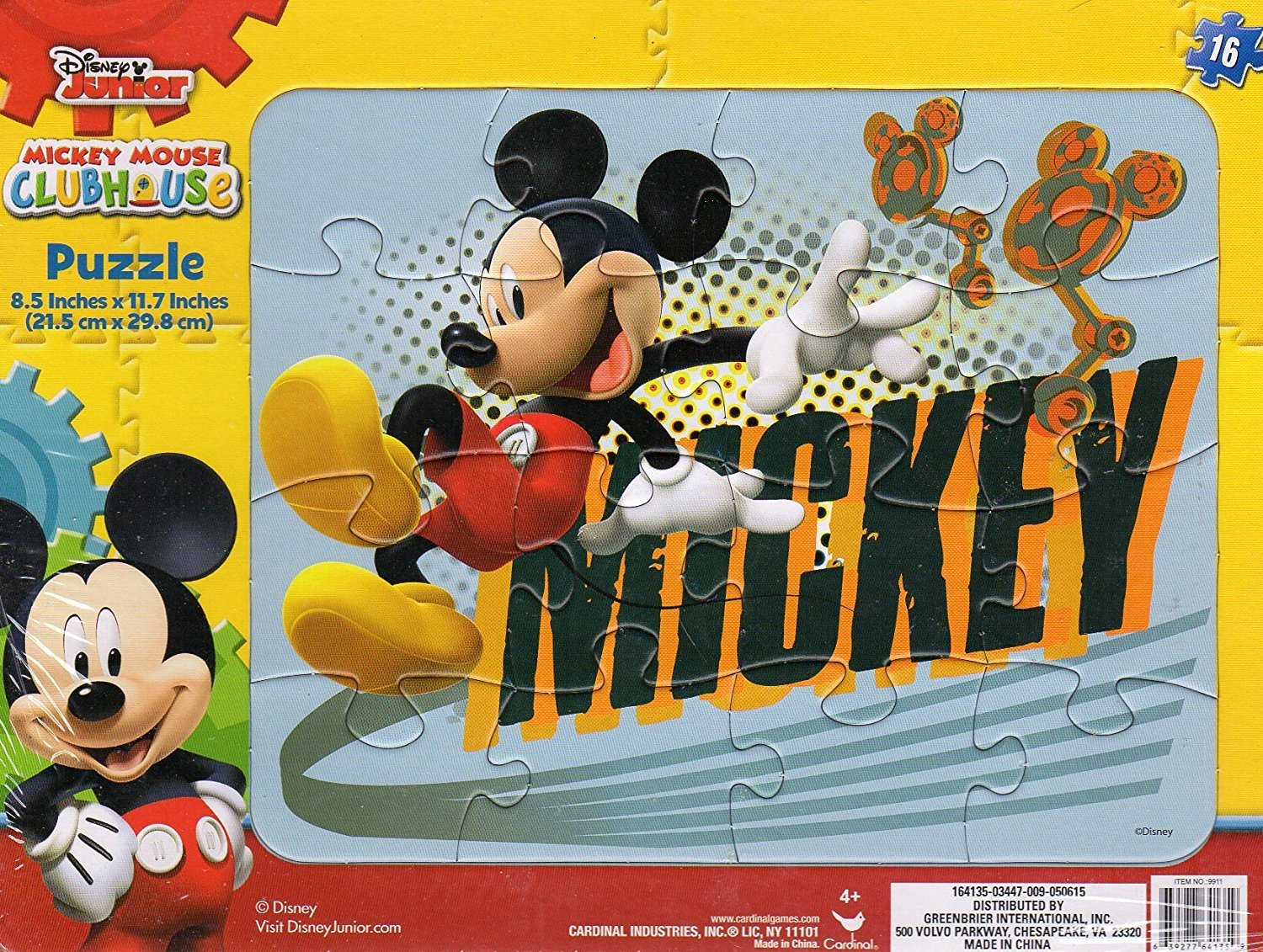 Disney Junior Mickey Mouse - 16 Pieces Jigsaw Puzzle