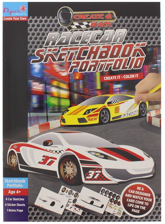 Race Car Sketch Book Portfolio