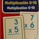 School Zone Bilingual Spanish English Multiplication (Multiplicacion) Facts 1-10 Flash Cards