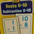 School Zone Bilingual Spanish English Subtraction (Resta) Facts 0-10 Flash Cards