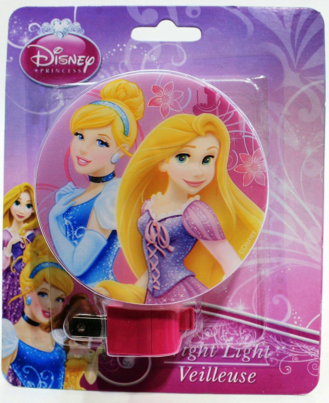 Round Cartoon Character Childrens Night Light Princess Duo