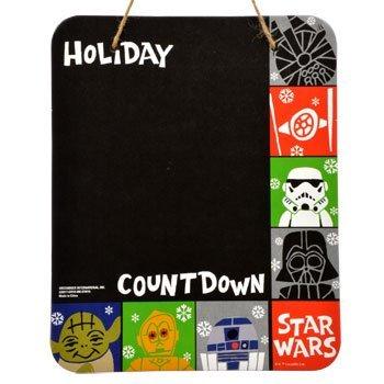 Star Wars Holiday Countdown Chalkboard