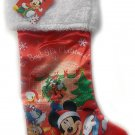 "Disney's 18"" Full Printed Satin Christmas Stocking with Plush Cuff (Mickey Mouse)"