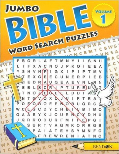 Jumbo Bible Word Search Puzzles - Volume 1: Puzzles From Bible Passages!
