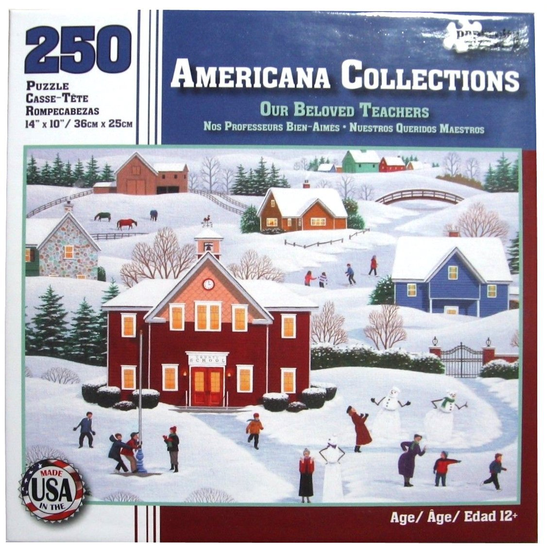 Americana Collections, Our Beloved Teachers - 250 Piece Jigsaw Puzzle