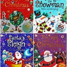 Christmas Holiday Sticker and Activity Books, Total 240 Stickers, 4-pk Set