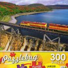 Train Crossing Agawa Canyon, Sault Ste.Marie,ON - Puzzlebug 300 Piece Jigsaw Puzzle
