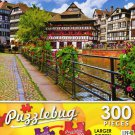Quaint Timbered Houses Strasbourg, France - Puzzlebug 300 Piece Jigsaw Puzzle