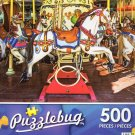 Carousel Horses on a Merry-go-round - Puzzlebug 500 Piece jigsaw Puzzle