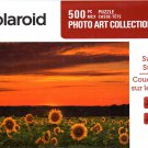 Sunset over Sunflowers - Polaroid Photo Art Collection - 500 Piece Jigsaw Puzzle