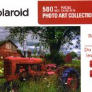 Reds in the Pasture - Polaroid Photo Art Collection - 500 Piece Jigsaw Puzzle