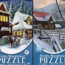 Winter Wonderland - 500 Piece Jigsaw Puzzle (Set of 2 Puzzle)