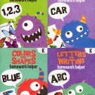 Homework Helper Educational Workbooks - Kindergarten - Set of 4 Books