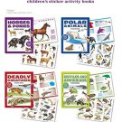 Horses and Ponies, Polar Animals, Deadly Creatures, Reptiles 4 Sticker Books