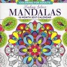 Animals - Adult Coloring Calendar - 16 Month Wall Calendars 2017Mandalas