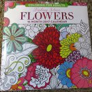 2017 Calendar-Finding Solace Flowers Coloring Book