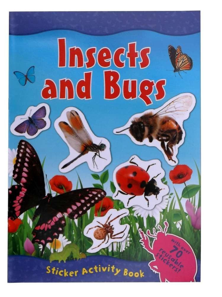 Insects & Bugs Sticker Activity Book (With Over 70 Reusable Stickers) Animal World
