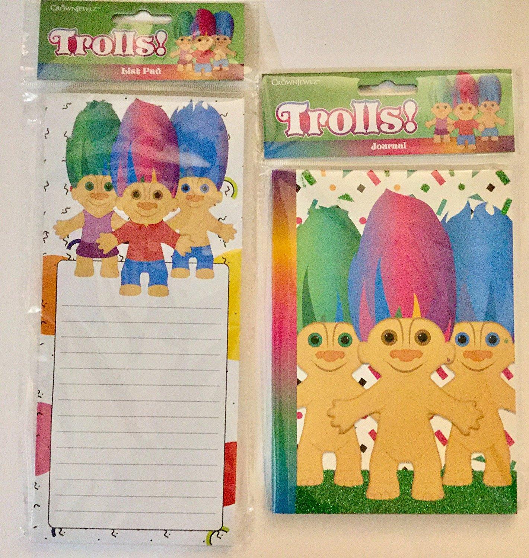 Trolls! Journal and List Pad / Notepad by Crownjewlz