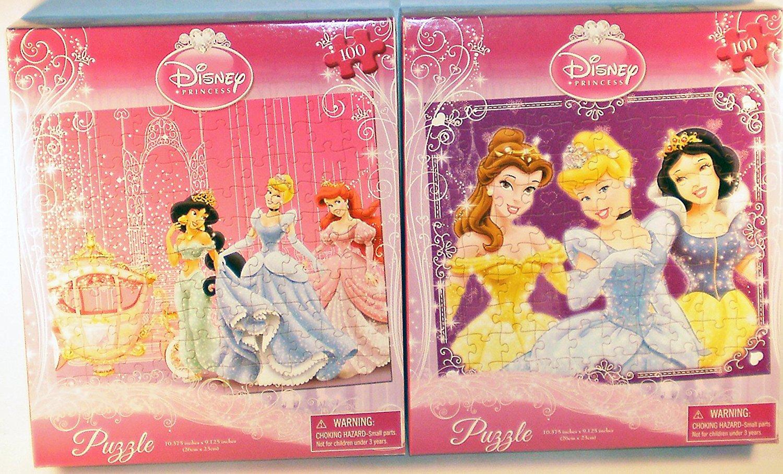 2-Pack Disney Princess Trios 100-Piece Puzzles