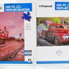 2 Polaroid Art Collection 500 Piece Jigsaw Puzzles 1952 Red Ford Truck & Granite Marvel
