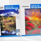 2 Polaroid Art Collection 500 Piece Jigsaw Puzzles Poppy Field and Pond & Mountains