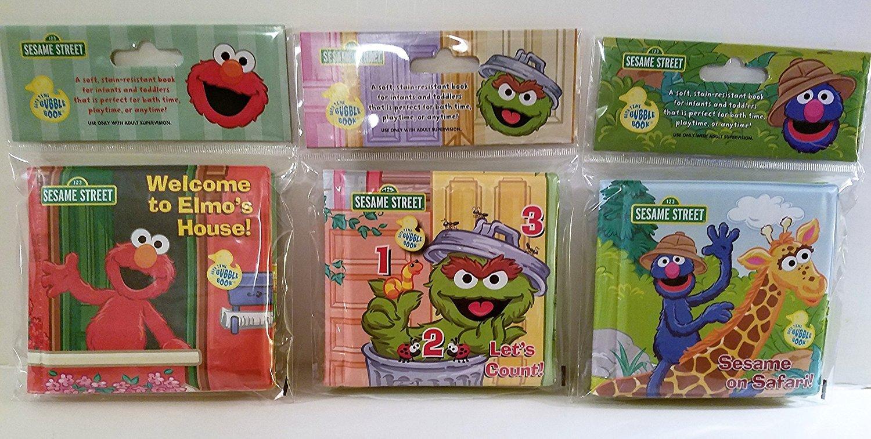 Set of 3 Sesame Street Bath Time Bubble Books