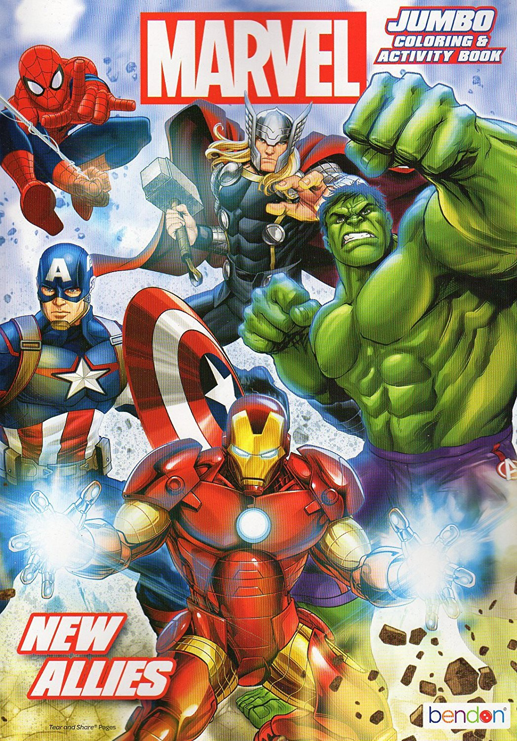 Marvel Heroes New Allies - Jumbo Coloring & Activity Book