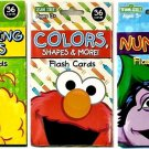 Sesame Street Flash Cards 3 Pack Numbers, Colors, Beginning Words