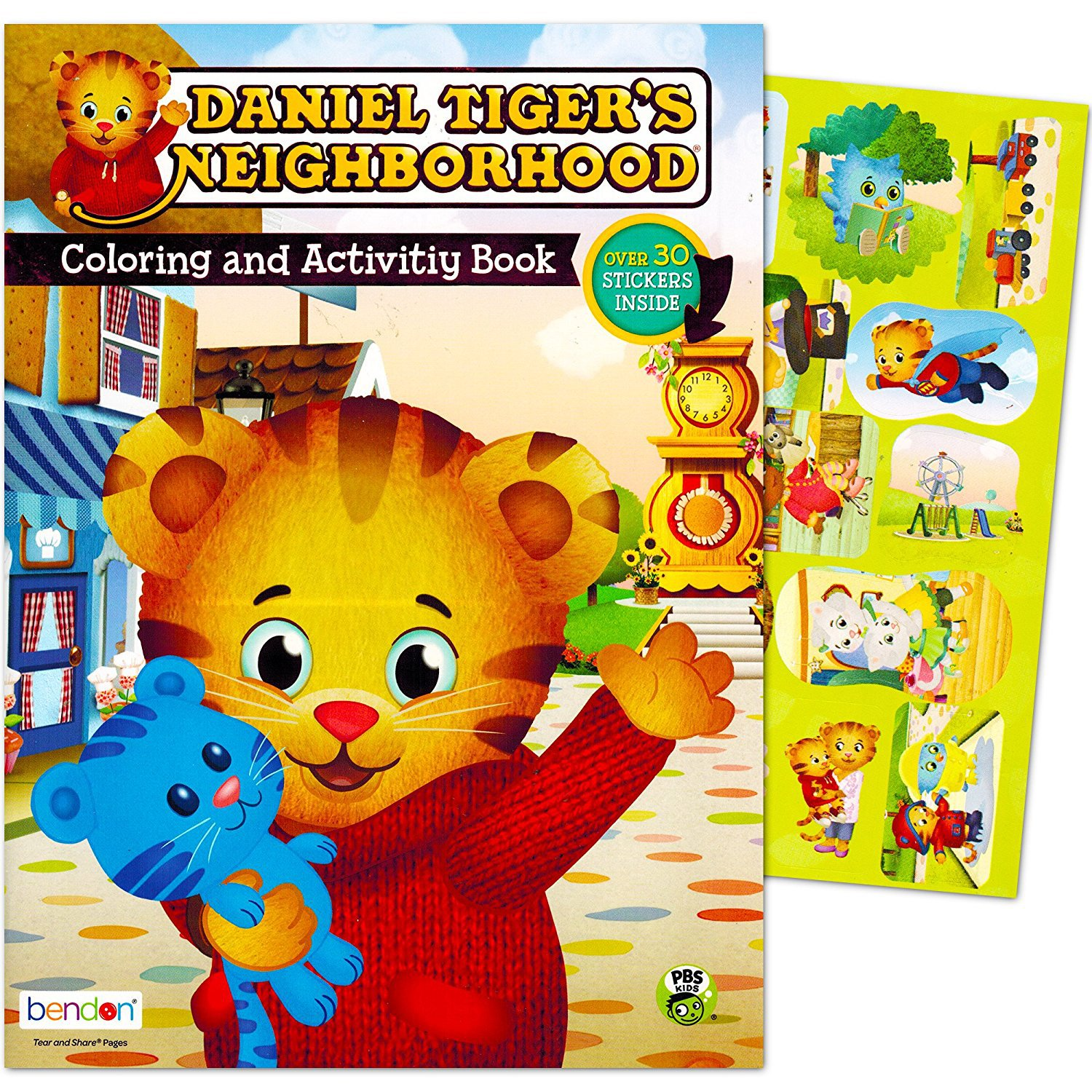 Daniel Tiger's Neighborhood Coloring and Activity Book - Over 30 Stickers Inside