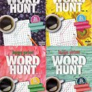 Large Print Word Hunt - All New Puzzles Books - 2016 Vol. 9-12 (4-Pack)