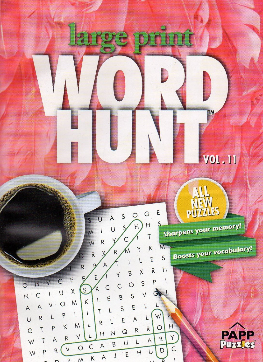 Large Print Word Hunt - All New Puzzles - (2016) - Vol.11