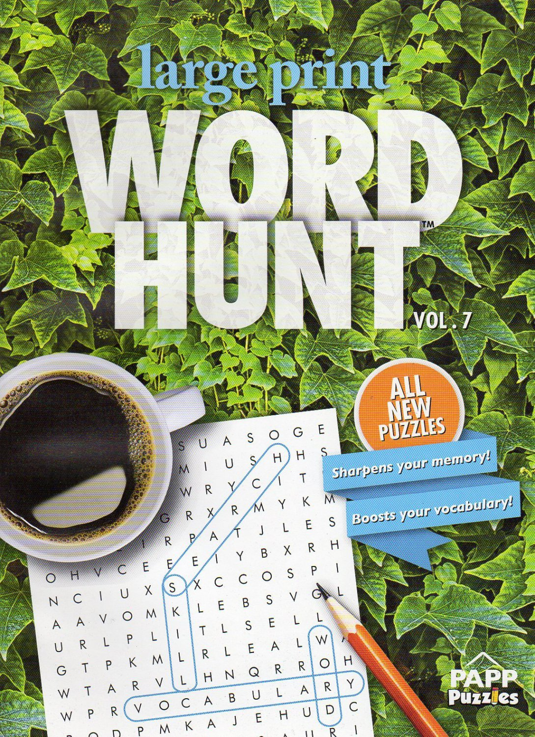 Large Print Word Hunt - All New Puzzles - (2016) - Vol.7