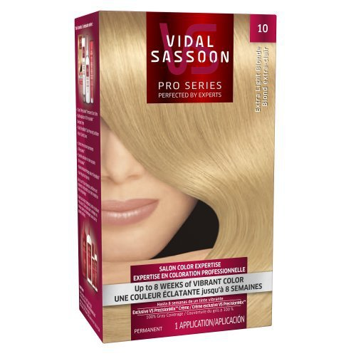Vidal Sassoon Pro Series Hair Color, 10 Extra Light Blonde, 1 Kit by Vidal Sassoon
