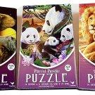 500 Piece Jigsaw Puzzle - 3-Pack– Celstial Sahara – Playful Panda – Wonderous Sahara