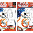 "Set of 2 Star Wars The Force Awakens Color And Trace Activity Book ""Ready To Roll"" W/34 Stickers"