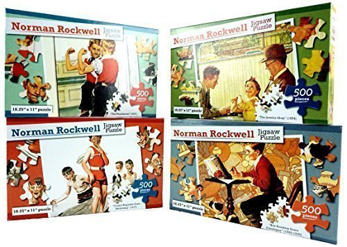 Norman Rockwell  500 Piece Jigsaw Puzzle Collection Americana Nostalga Vintage