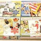 Norman Rockwell 2000 Piece Puzzle Set ~ 4 Puzzles 500 Pieces Each ~ Bundle 4