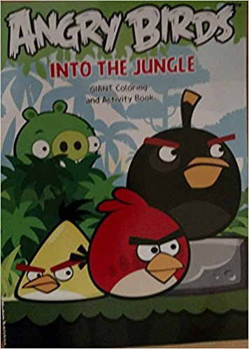Angry Birds Into the Jungle Giant Coloring & Activity Book